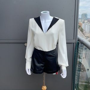 GIVENCHY Contrasting Collar Blouse Size 40